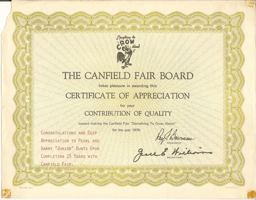 Canfield Fair Award